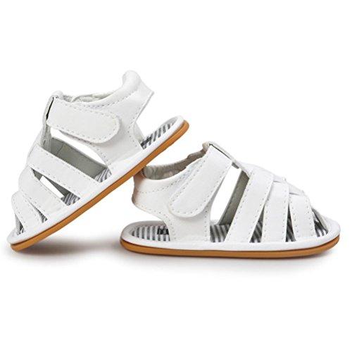 Per 0~18 mesi,Amlaiworld PU cuoio Casual Scarpe Sneaker per Toddler Bianco
