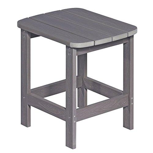 NEG Design Adirondack Tisch MARCY (grau-braun) Westport-Table/Beistelltisch aus Polywood-Kunststoff (Holzoptik, wetterfest, UV- und farbbeständig)