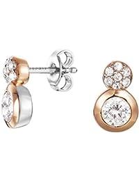 Esprit Damen-Ohrstecker Embrace Glam 925 Silber rhodiniert Zirkonia weiß Rundschliff - ESER92679A000