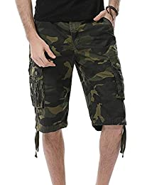 Vp Clothing Men's Multi Pocket Slim Fit Cotton Twill Cargo Shorts (Pack Of 1) (Color 2)