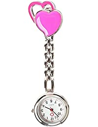 ShopyStore As Shown 2016 New Fasion Sweet Heart Chest Pocket Watch Nurse Table Quartz Alloy With C