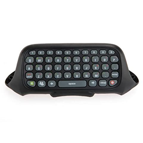 NOIR Clavier Keyboard Chatpad Pour MICROSOFT Xbox 360 Manette Sans