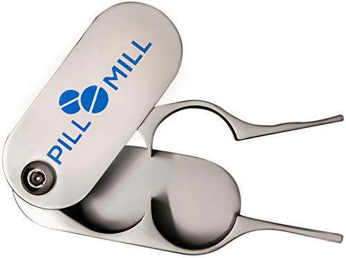 Tablettenteiler von Pill Mill - Metallklingen, die nie stumpf werden - Griff hilft, kleine oder große Pillen leicht zu schneiden -Leichte Tablettenschneider - Perfekter Pillenschneider für unterwegs