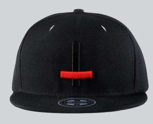 Imagen de aivtalk  negra  de béisbol unisex sombrero plano con bordado de cruz accesorios para hombre mujer parejas hip hop snapback alternativa