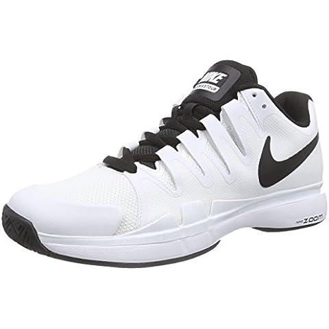 Nike Zoom Vapor 9.5 Tour Zapatillas de tenis, Hombre, Blanco / Negro, 45 1/2