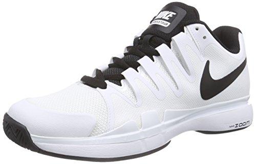 Nike Court Zoom Vapor 9.5 Tour, Herren Tennisschuhe, Weiß (White/Black-Black 101), 42 EU