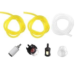 AISEN 3x Benzinschlauch / Kraftstoffschlauch (jeder 30cm) für Motorsäge Freischneider Rasentrimmer Stihl Husqvarna Partner McCulloch Echo mit Kraftstofffilter Benzinpumpe