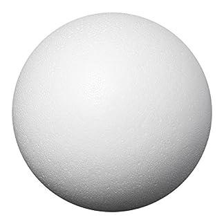 Bolas de poliestireno, diámetro de 8cm, 5unidades, poliestireno pelotas para lentejuelas técnica, tecnología servilleta, de fieltrar, manualidades, Hogar, DIY