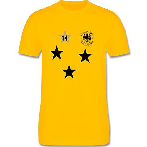 Fußball - Weltmeister 2014 Deutschland 4. Stern - Herren Premium T-Shirt Gelb
