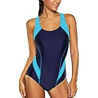 CharmLeaks Damen Einteiler Figuroptimizer Racerback Sport Badeanzug Elegance Schwarz 3XL