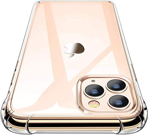 Garegce Coque iPhone 11 Pro (2019) + 2 Pack Verre trempé Protecteur écran, Transparent Silicone [Antichoc Bumper], Souple TPU Protection Case Cover pour iPhone 11 Pro(5.8 Pouces)- Clair