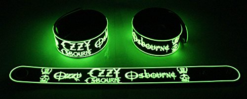 Ozzy Osbourne nuovo. Brillano al buio Bracciale Ozz 109G