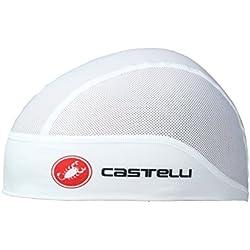 Castelli Gorro de Ciclismo para el Verano, Summer Skullcap, Blanco, única