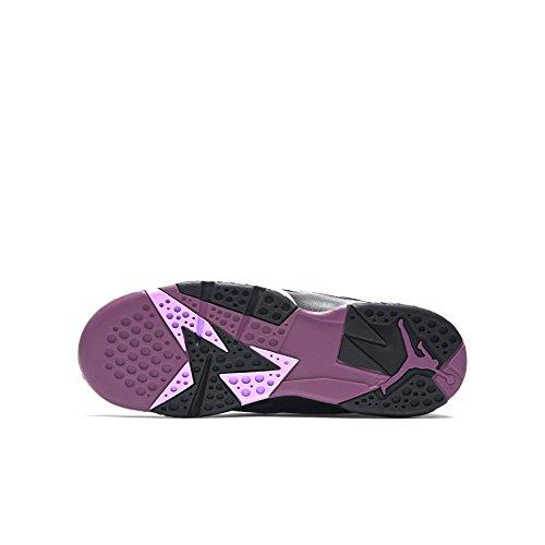 Nike Air Jordan 7 Retro GG, Chaussures de Running Entrainement Femme Noir / rose / rouge / gris (noir / fuchsia lumineux - mûrier - gris loup)