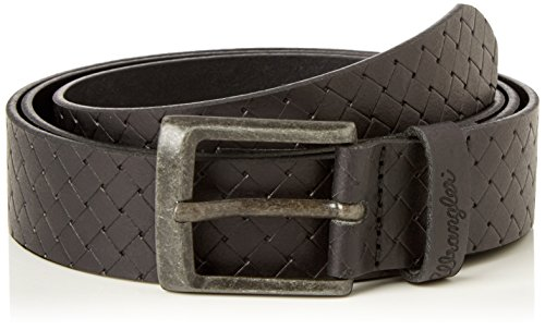 Wrangler - Braiding Embossed, Cintura Uomo, Nero (Black), 90 cm ( 90 cm)