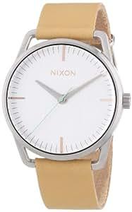 Nixon - A1291603-00 - Montre Femme - Quartz Analogique - Bracelet Cuir Beige