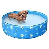 SinceY Hundepool Für Hunde Schwimmbad Planschbecken Hundebadewanne Haustierpool Mit Ablassventil...