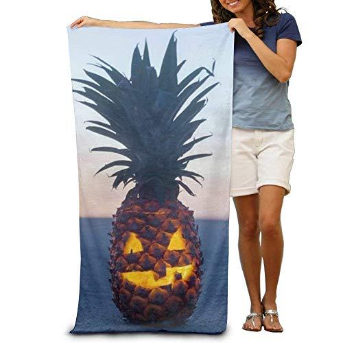 xcvgcxcvasda Halloween Pineapple Adult Super Absorbent Beach Towel Towel In Beach Quick Dry