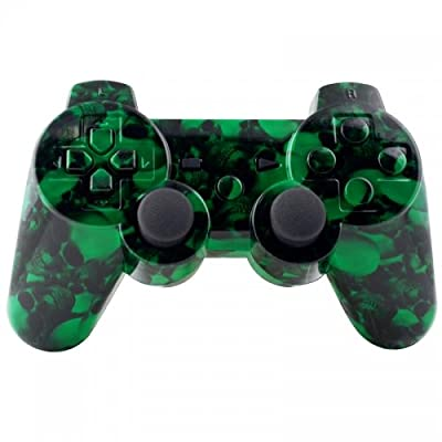 Playstation 3 Controller - Green Hades Skulls