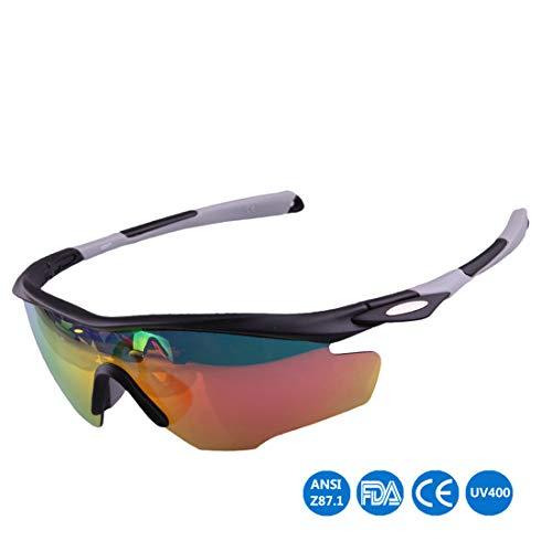 Polarisierte Sonnenbrille mit UV-Schutz Helle bunte polarisierte Unisexsport-Sonnenbrille, die den Baseball-laufenden Fischen-Golfklettern radfährt Superleichtes Rahmen-Fischen, das Golf fährt