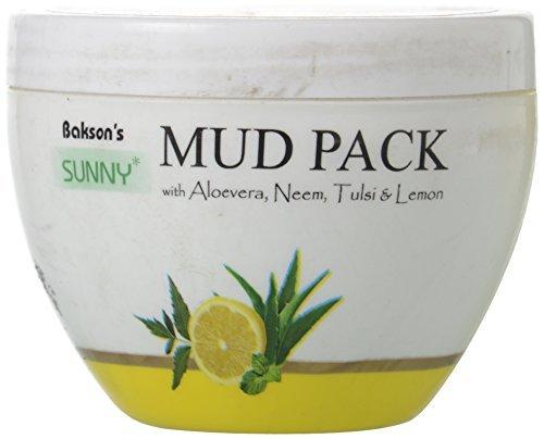 Bakson Sunny Mud Pack with Aloevera, Neem, Tulsi & Lemon, 150 g