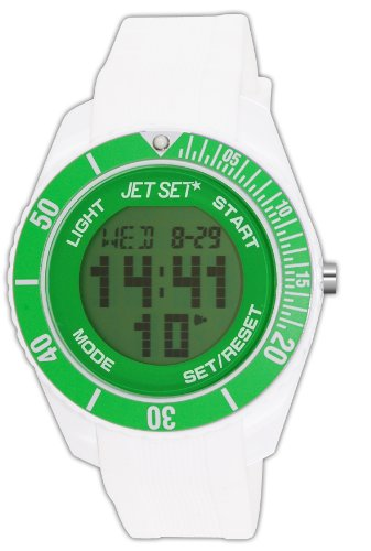 Jet Set Unisex Analogue Watch with White Dial Analog - Digital Display - J93491-18