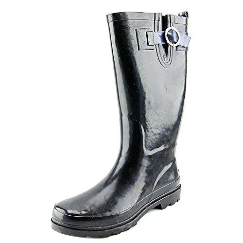 nautica-saybrook-femmes-us-10-noir-botte-de-pluie