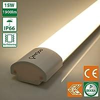 Oeegoo 60CM 15W LED Luz de Techo Sin Parpadeo Clase de Protección IP66 1900 LM -Alternativa a 150 Vatios Bulbo RA> 80 Aplicable a la Cocina, Garaje, Bodega, Oficina Blanco Neutro (4000K-4500K)