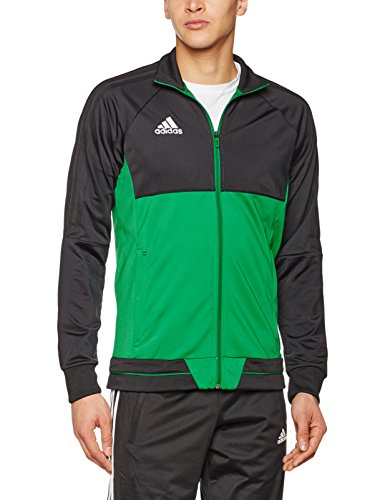 adidas Herren Tiro 17 Polyester Jacke, Black/Green/White, XXL