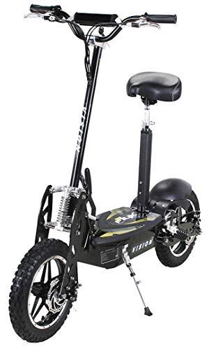 E-Scooter Roller Original E-Flux Vision mit 1000 Watt 36 V Motor Elektroroller E-Roller E-Scooter in vielen Farben (Schwarz)