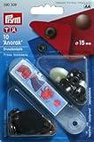 Prym ANORAK - Botón metálico de presión, 15 mm, color azul