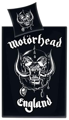 Motörhead Bettwäsche, Baumwolle, schwarz, 135 x 200 x 1 cm, 2-Einheiten (Musik-bettwäsche)