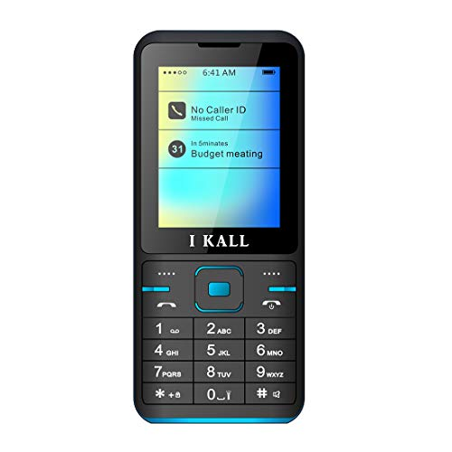 I Kall K37 2.4 Inch Display Dual Sim Feature Phone with 1 Year Manufacture Warranty (Blue)