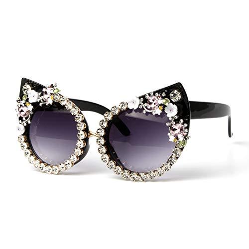 LLISA Sonnenbrille Frauen Luxusmarke Brille Rosa Strass Katzenaugen Sonnenbrille Vintage Shades Für Frauen Brillen Oculos,2