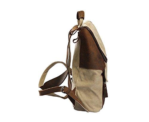 LINSHI TASKS Herren Tasche Herren Rucksäcke Herren Reisetaschen Canvas und Leder Vintage Modern Freizeit L122A (Armeegrün) Khaki