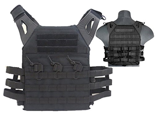 Taktische JPC Combat Weste MOLLE Assault Softair Paintball Military schwarz