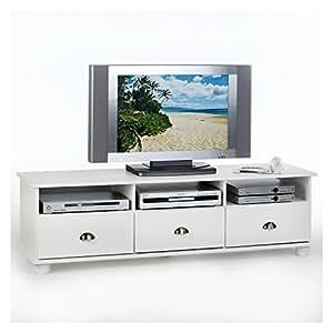 Meuble TV COLMAR 3 tiroirs + 3 niches
