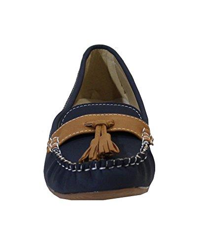 amp; Shoes By Slipper Damen Blau Mokassins dtBqBr7