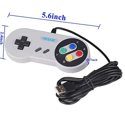 Hizue Snes Usb Controller Gamepad (2 Pack,10ft/3M), Super
