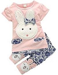 Baby Kids Girls Boys Toddlers Cute Rabbit Top+short Pants 2pc Suit Set Clothes