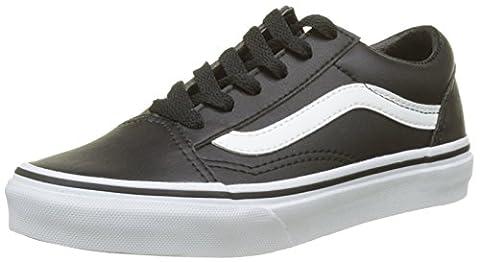 Vans Old Skool, Chaussures de Running Mixte Enfant, Noir (Black/True Whiteclassic Tumble), 34.5 EU