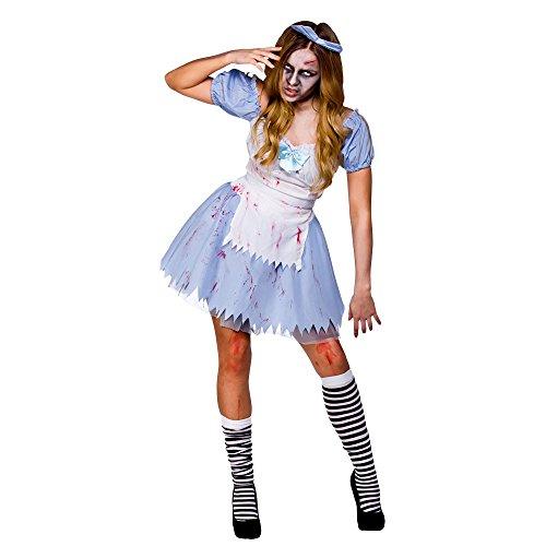 Alice im Zombieland Horror Verkleidung Frauen Party Halloween Kostüm ()