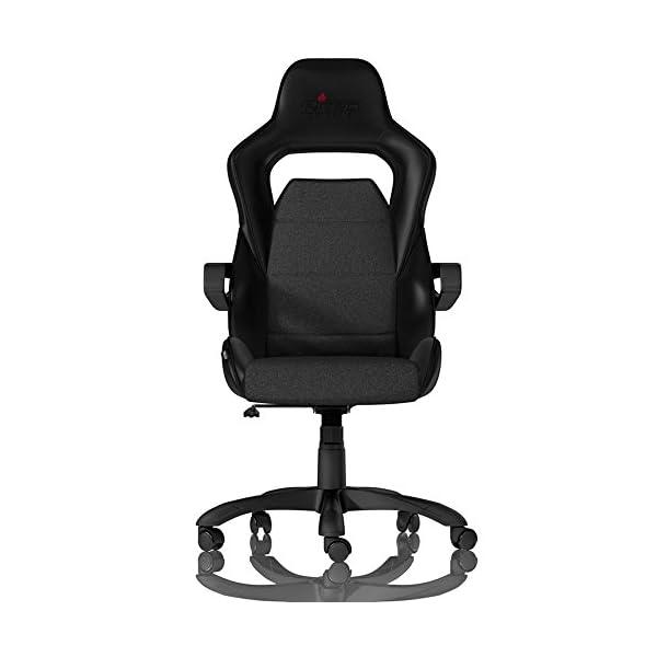 NITRO CONCEPTS E200 Race Silla de Juego – Oficina – Cuero sintético – Acolchado de espuma fría – 120 kg – Diseño de asiento de carreras – Negro