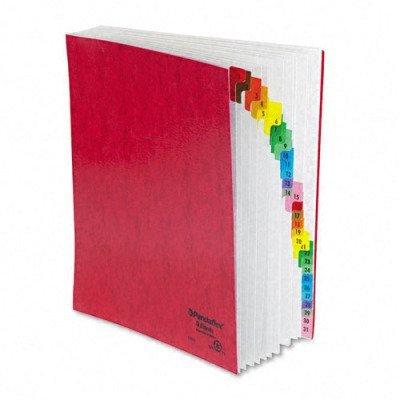 Pendaflex 11014 Daily desk file/sorter, 1-31 indexing/30 leaves, letter size, red