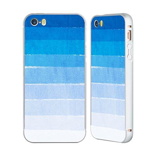 Ufficiale Charlotte Winter Sogno Ombre Argento Cover Contorno con Bumper in Alluminio per Apple iPhone 6 Plus / 6s Plus Blu
