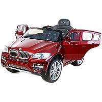 RIRICAR BMW X6 Rojo Lacado, Asiento Tapizado, Los niños del coche, los niños