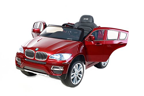 Electric Ride On Car Bmw X6 Red Painted Luxury Soft Eva Wheels