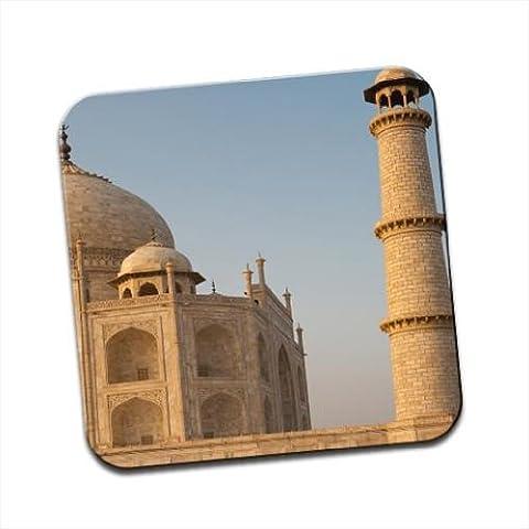 Grand in marmo del Taj Mahal di Delhi, India unico Premium Glossy Sottobicchiere in legno