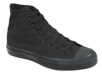 black high top ankle boots canvas baseball trainers womens