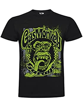 GAS MONKEY T-SHIRT NEW 2018 COLLECTION - GMG GREEN GRUNGE MONKEY